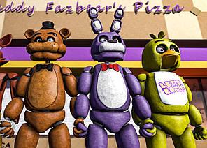 Картина GeekLand Five Nights at Freddys Пять Ночей с Фредди  постер 60х40 FN 09.037