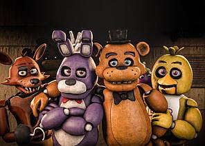Картина GeekLand Five Nights at Freddys Пять Ночей с Фредди  постер 60х40 FN 09.038