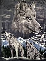 """Плед из микрофибры Elway """"Волки"""" (200х220)"""