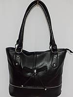 Женская сумка с бантиком черная