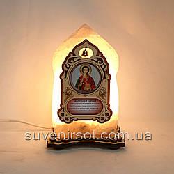 Соляной светильник Икона маленькая Пантелеймон
