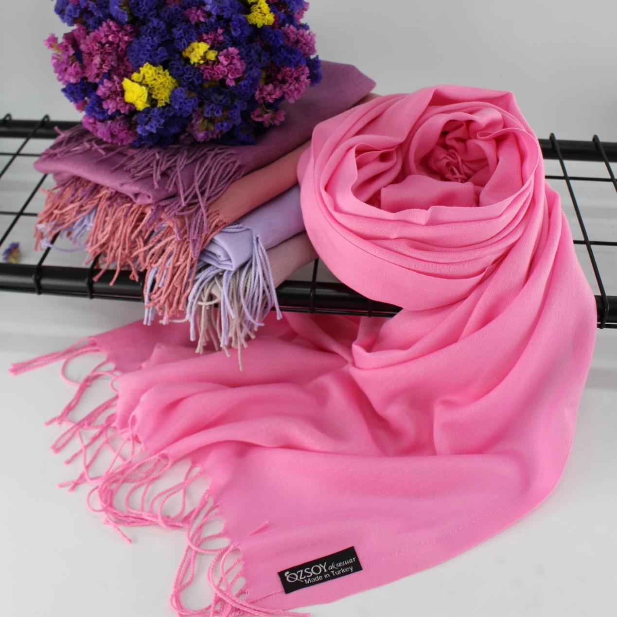 """Шарф палантин Ozsoy """"Луиза"""" розовый 116056"""