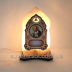 Соляний світильник маленька Ікона Серафим Саровський