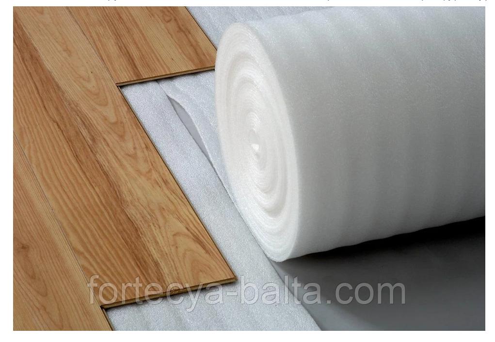 Вспененный полиэтилен под ламинат 1 м толщина 5 мм