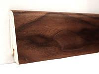 """Шпонированный плинтус """"Kluchuk"""", коллекция Евро, Американский Орех, арт. KLE60-06"""