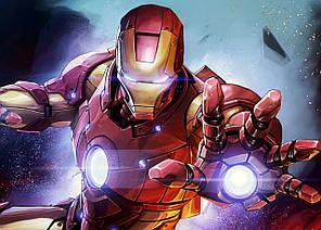 Картина GeekLand Iron Man Железный Человек комикс арт 60х40см IM.09.013