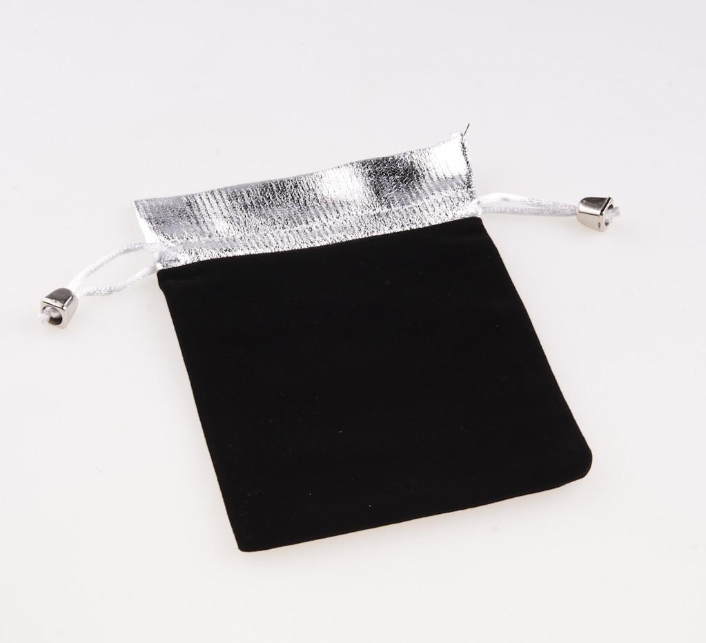 Мешочек черный с серебром 15х11