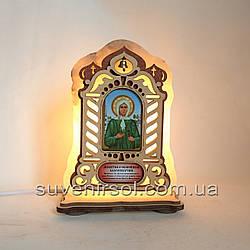 Соляной светильник Икона большая Ксения
