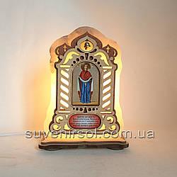 Соляний світильник велика Ікона Покрови