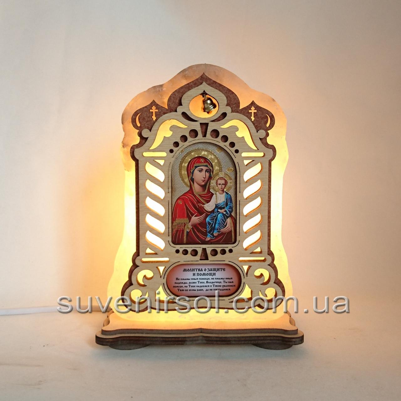 Соляной светильник Икона большая Смоленская
