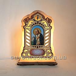 Соляний світильник велика Ікона Серафим Саровський