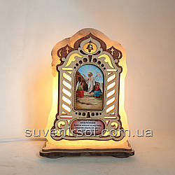 Соляний світильник велика Ікона Воскресіння Господнє