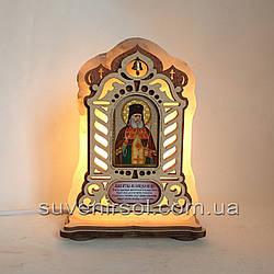 Соляной светильник Икона большая Лука
