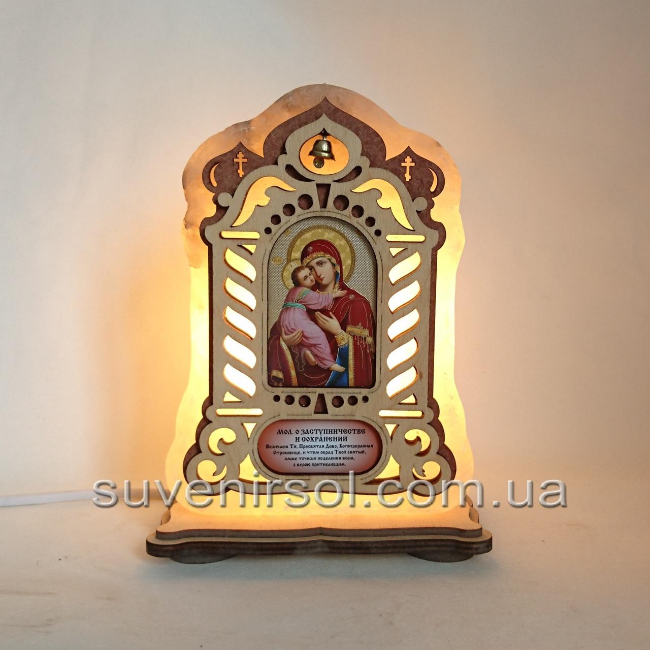 Соляной светильник Икона большая Владимирская