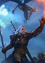 Картина GeekLand The Witcher Ведьмак Геральт из Ривии 40х60см TW.09.027