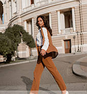 / Размер 50,52,54,56 / Женский стильный костюм-тройка батал / 895-Рыжий, фото 2