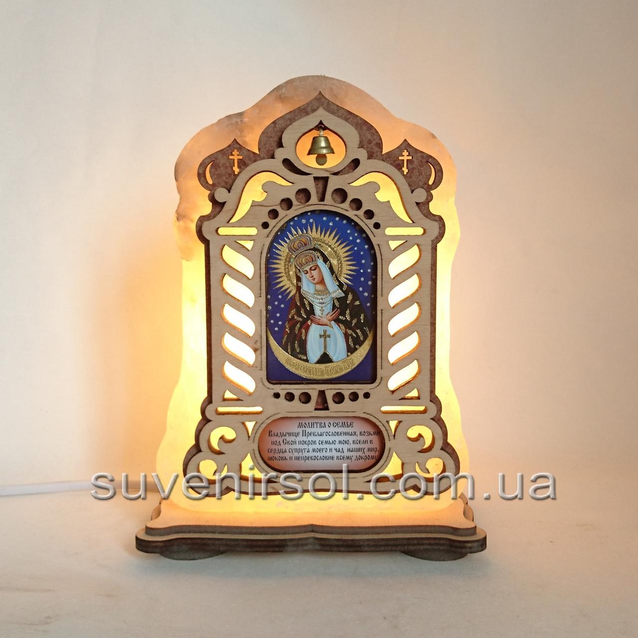 Соляной светильник Икона большая Остробрамская