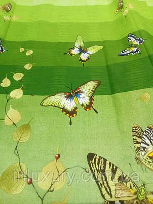 Простирадло на гумці Зелена Метелик 80х190х20, фото 2