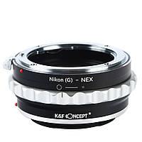 Адаптер Nikon G - Sony NEX K&F, фото 1
