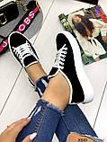 Женские кеды Converse на шнуровках черные из натуральной замши на белой подошве, фото 6