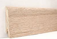 "Шпонированный плинтус ""Kluchuk"", коллекция Евро, Дуб Выбеленный, арт. KLE60-02"