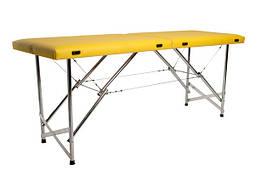 """Масажний стіл кушетка """"Стандарт"""" Складаний для косметологічних і масажних процедур Жовтий"""