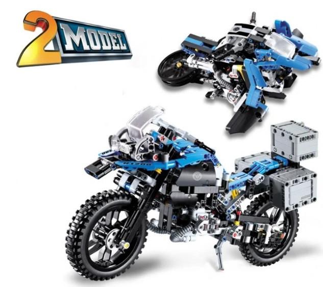 Сборная модель мотоцикла 3369A Приключения на BMW R 1200 GS 2в1.