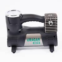 Автомобильный компрессор однопоршневой, для накачки шин колес авто машины Uragan 10Атм R13-R16 40л 12В (90210)