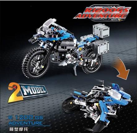 Сборная модель мотоцикла 3369A Приключения на BMW R 1200 GS 2в1., фото 2