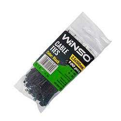 Хомуты Winso пластиковые черные 25x100 мм 100 шт 225100