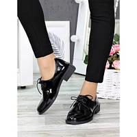 Туфли оксфорды черная кожа 7378-28