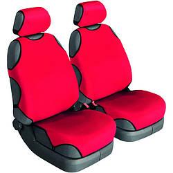 Майки на сидіння авто універсальні Beltex Cotton 2 шт без підголівників червоний (11610)