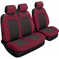 Авточехлы на сиденья универсальные Beltex Comfort 3 штуки тип А гранатового цвета без подголовников (53510)