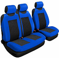 Авточехлы на сиденья универсальные Beltex Comfort 2+1 Тип А синие без подголовников (53410)