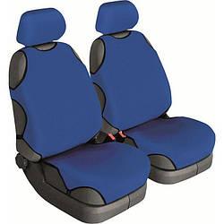 Майки на сидіння авто (універсальні) Beltex Cotton 2шт без підголівників сині (11310)