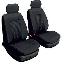 Чехлы на сиденья передние универсальные 2 штуки Beltex Comfort без подголовников черные (51210)
