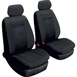 Авточохли універсальні на передні сидіння машини 2 шт Beltex Comfort без підголівників чорні (51210)