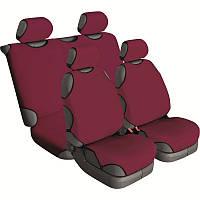 Майки на сиденья автомобиля Beltex Cotton 4 штуки без подголовников гранат (13410)
