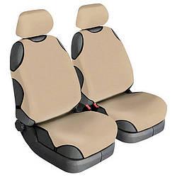Майки на сидіння авто універсальні Beltex Cotton Бежеві 2 шт без підголівників (11810)