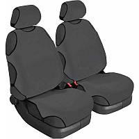 Майки на сиденья авто (универсальные) Beltex Cotton 2 шт без подголовников графит (11510)