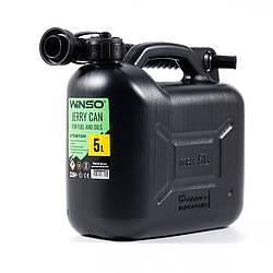 Канистра пластиковая 5 л для топлива и масла Winso (137050)