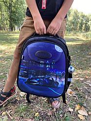 Рюкзак для мальчика Winner черный с машиной 6008