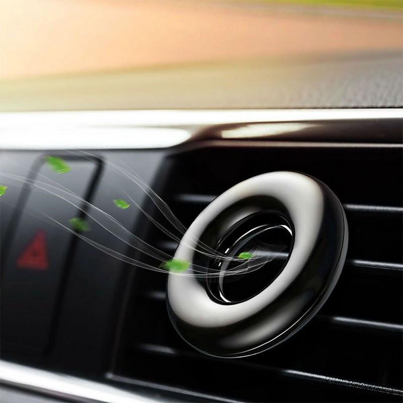Ароматизатор для авто Baseus цитрусовый Circle Vehicle Fragrance black на дефлектор в салон машины (21777Bk)