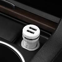Автомобильное зарядное устройство HOCO Z27 Staunch Белый 2USB 24A (Z27)