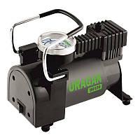 Автомобильный компрессор однопоршневой, для накачки шин колес авто машины URAGAN 37 л/мин с манометром (90120)