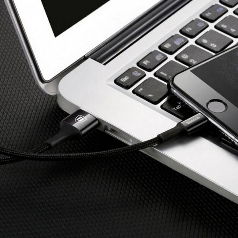 Кабель USB-micro USB 2.0 A 1 м Baseus Yiven Black для синхронизации и зарядки телефона (CAMYW-A01)