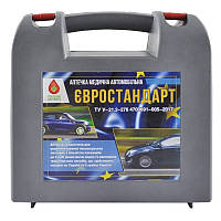 Аптечка медична автомобільна Евростанда для легкового авто та мікроавтобуса в кейсі. Аптечка для авто