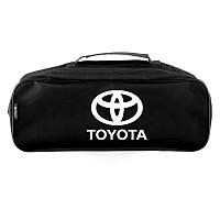 Автомобильный органайзер в багажник для Toyota сумка для аксессуаров Черная 2 отделения (SU50)