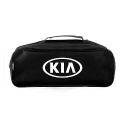 Сумка органайзер в багажник авто Kia Черная из полиэстера с 2 отделениями (SU40)