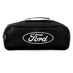 Сумка органайзер в багажник авто Ford Черная из полиэстера с 2 отделениями (SU5)